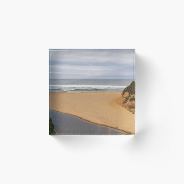 Montara Beach California Panorama Color Acrylic Block