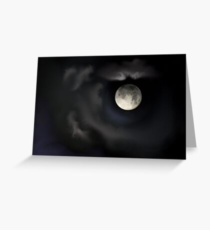 Night of the Blue Moon Greeting Card