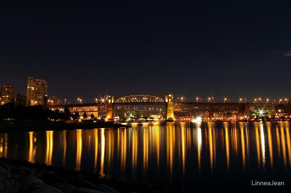 Magical Burrard Bridge by LinneaJean