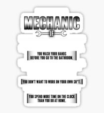Mechanic Sticker