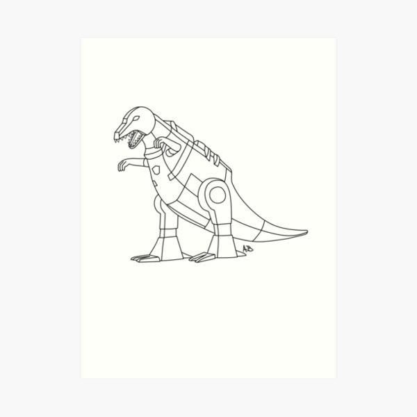 Transformers GRIMLOCK G1 US Patent Art Print 1986 Dinosaur Custom Sizes Avail.