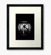 Clock BW Framed Print