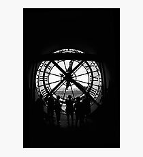 Clock BW Photographic Print
