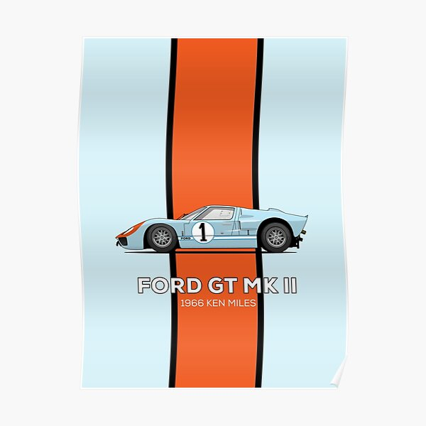 Ford GT40 1966 Ken Miles Poster