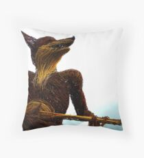 Wicker Guitarist Throw Pillow