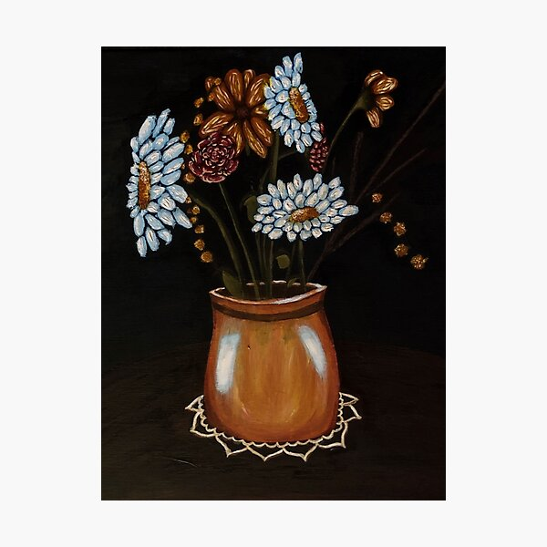 Flower Painting Photographic Print