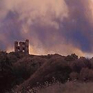 Storm Over Scarborough Castle by Angela Harburn