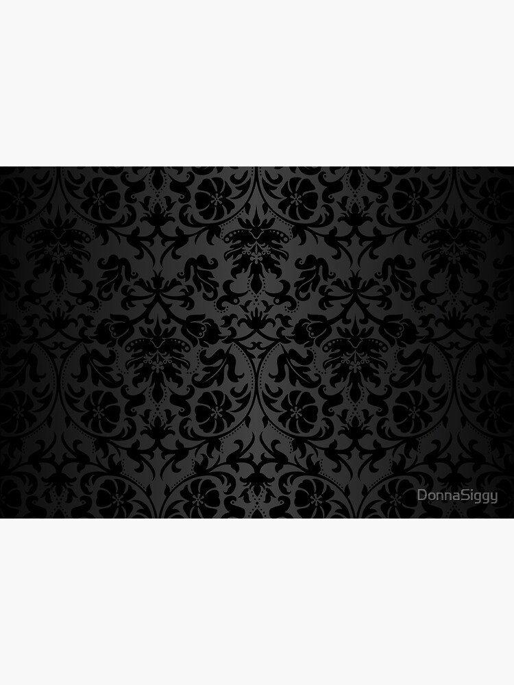 Black Floral Damask by DonnaSiggy