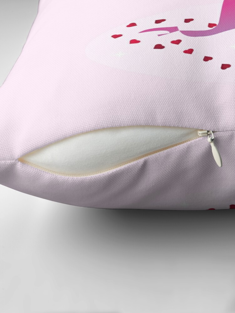 Alternate view of Sugarsnap-The Valentine Card Fairy Friends™ Throw Pillow