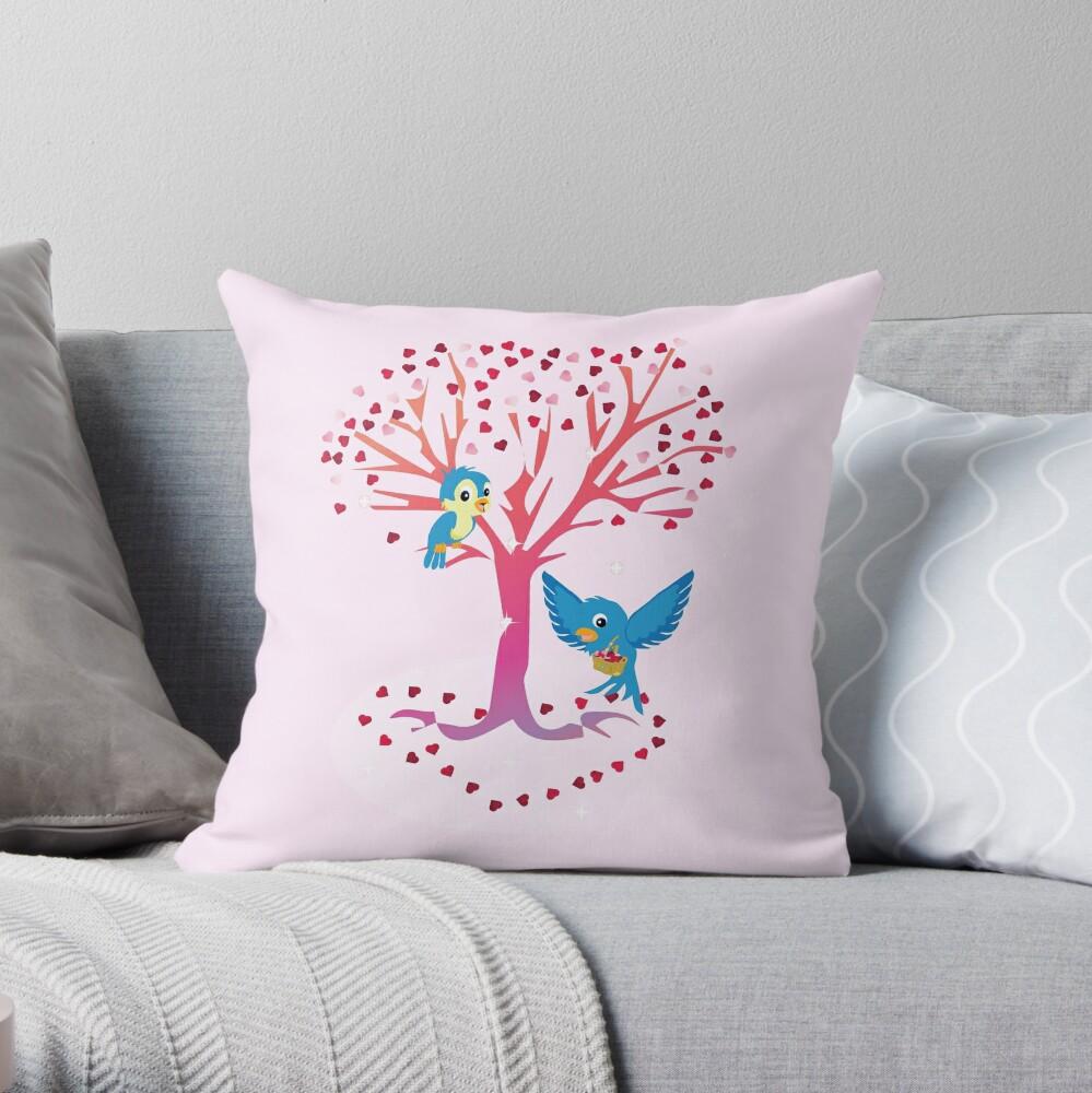 Sugarsnap-The Valentine Card Fairy Friends™ Throw Pillow