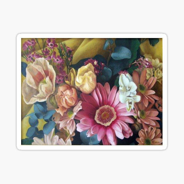 Flowers - big print - original work - oil on canvas by Avril Thomas Sticker