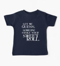 Sweetroll 1 White for high necked Baby Tee