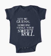 Body de manga corta para bebé Sweetroll 1 blanco para alto cuello