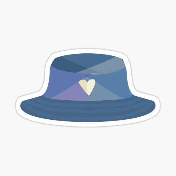 90's bucket hat Sticker