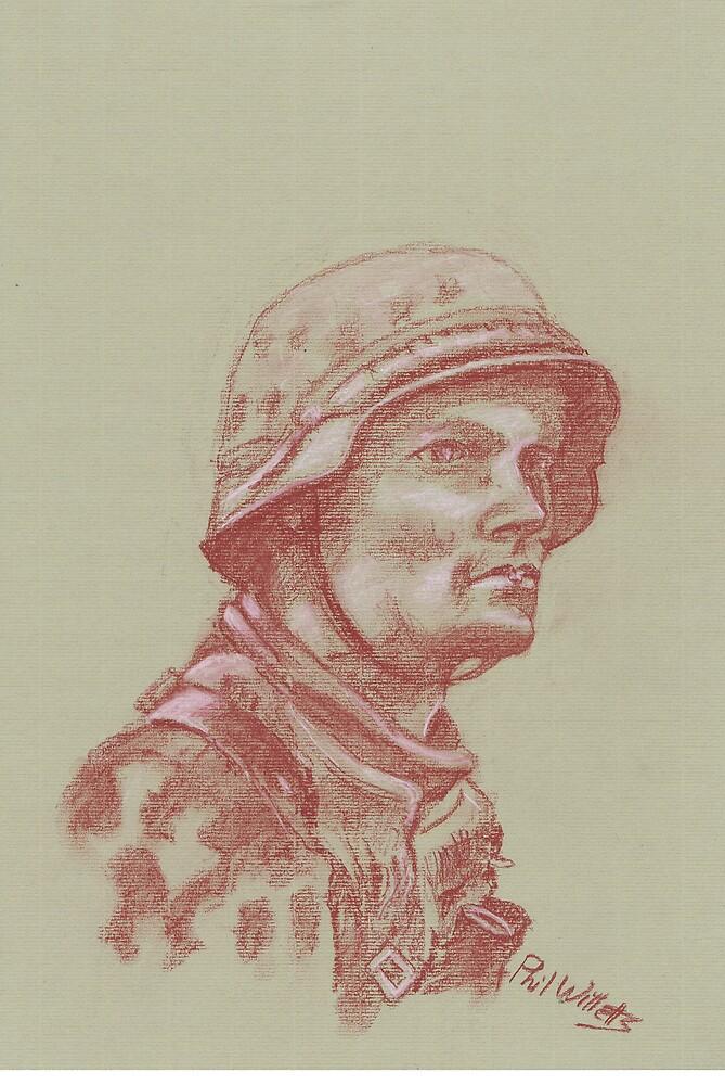 Waffen SS Grenadier Portrait by Phil Willetts