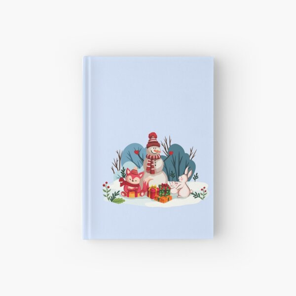 Christmas Snowman And His Furry Friends™ Hardcover Journal