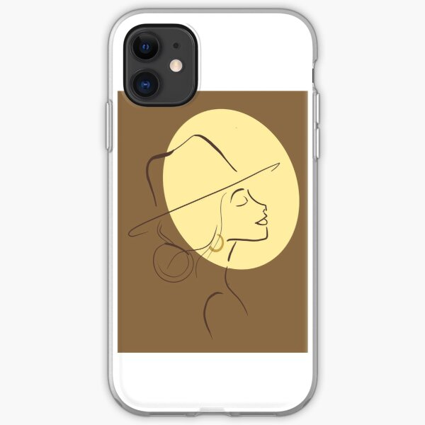 Hat girl iPhone Soft Case
