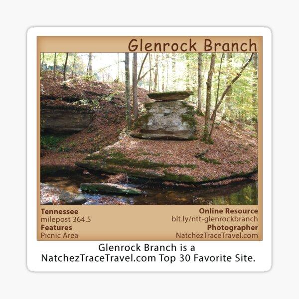 Glenrock Branch on the Natchez Trace Parkway. Sticker
