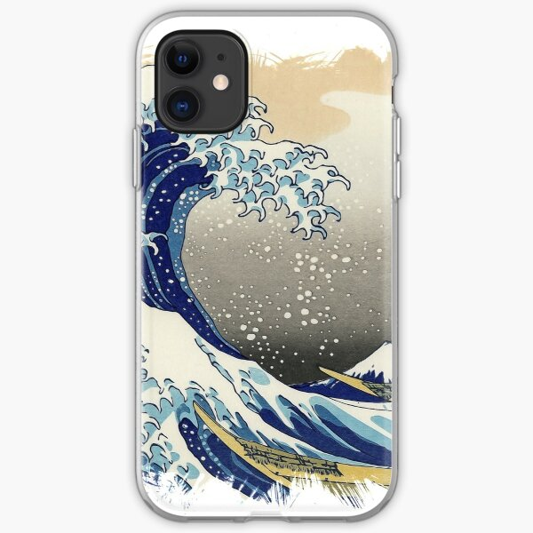 ✪ The Great Wave Off Kanagawa ✪ Retouched Fan Art Historic Japanese Masterpiece iPhone Soft Case