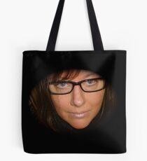 Black Reading Glasses Tote Bag
