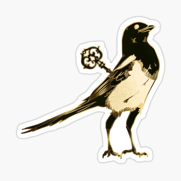 Magpie - Two for Mirth Sticker