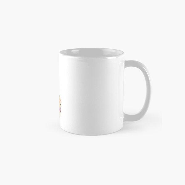 One-line Simple Face with Daisy Classic Mug
