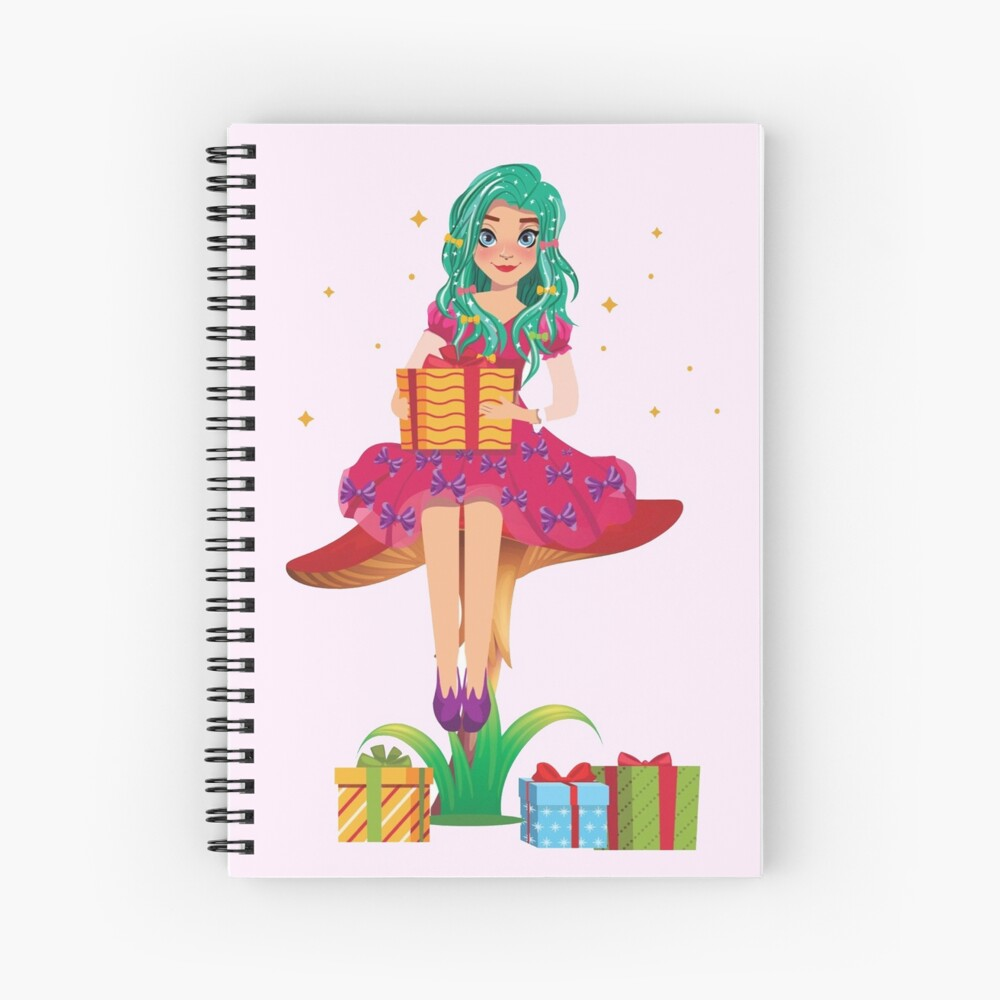 Ruby the Ribbon Fairy With Her Gifts™ Spiral Notebook