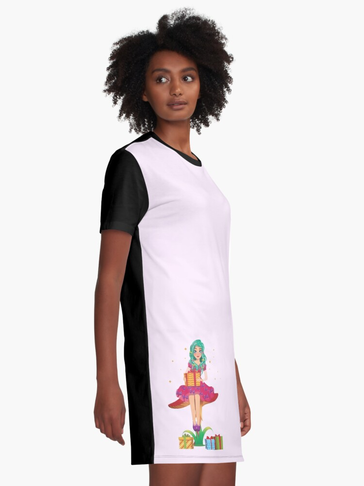 Alternate view of Ruby the Ribbon Fairy With Her Gifts™ Graphic T-Shirt Dress