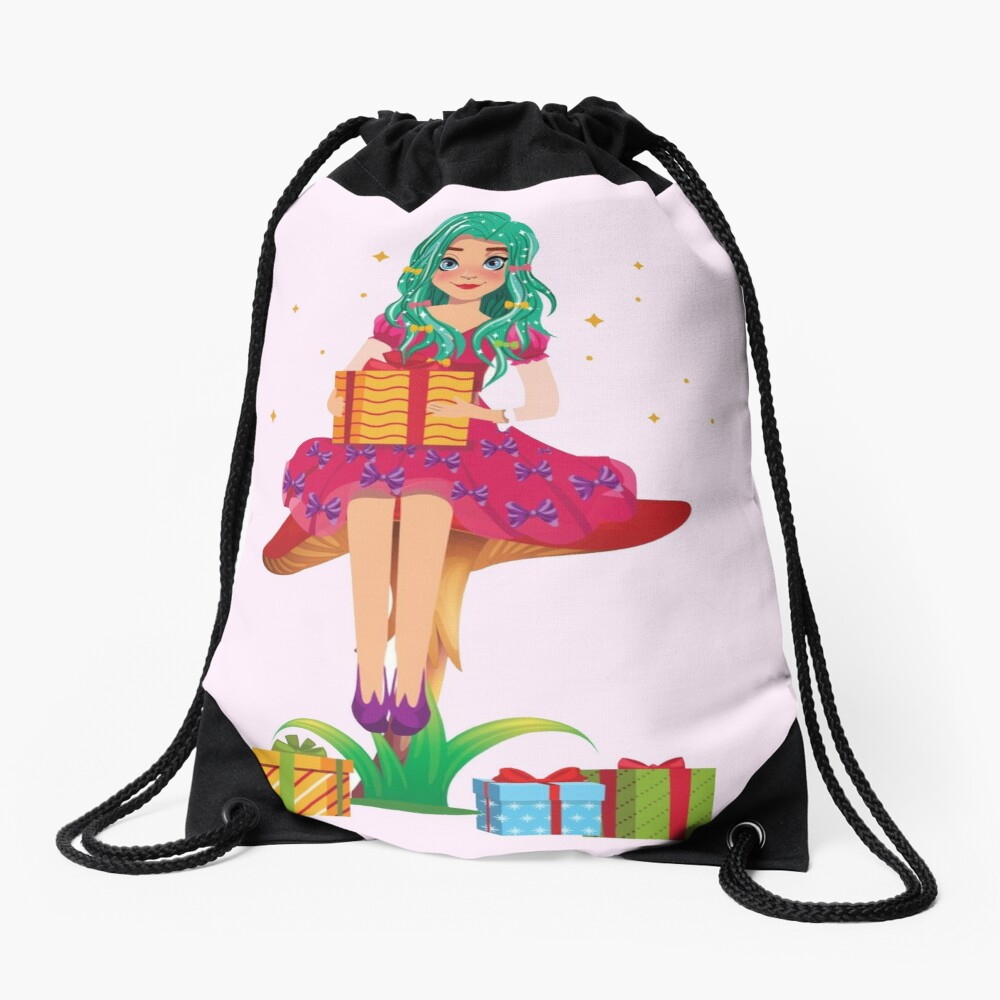 Ruby the Ribbon Fairy With Her Gifts™ Drawstring Bag