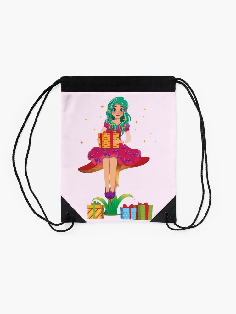 Alternate view of Ruby the Ribbon Fairy With Her Gifts™ Drawstring Bag