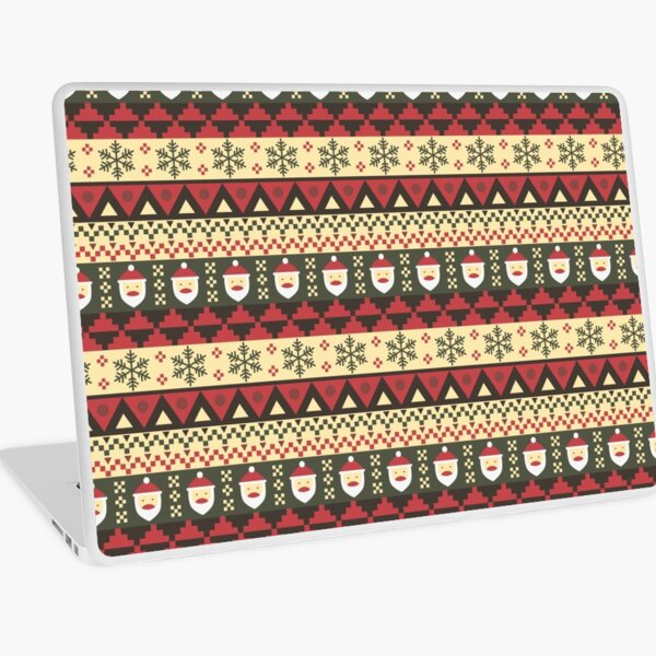 Christmas Aztec Laptop Skin