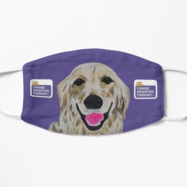 II, Canine Assisted Therapy Golden Retriever with Logos v3 Flat Mask
