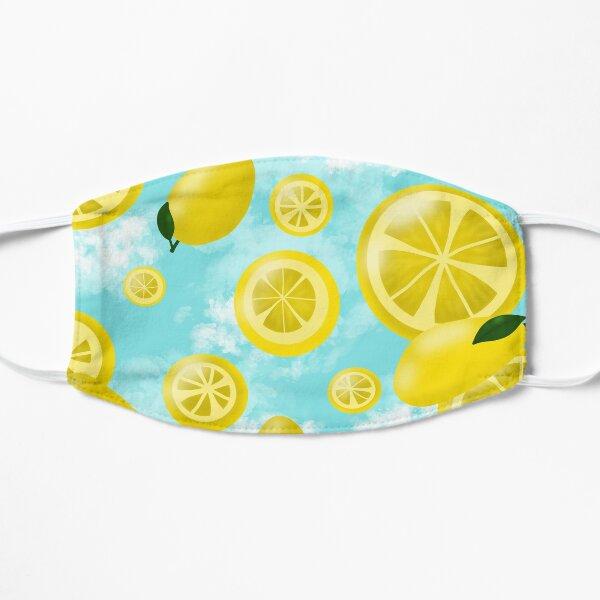 Raining Lemons Mask Flat Mask