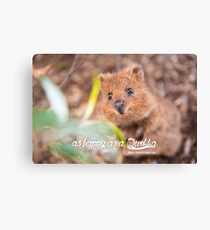 as Happy as a Quokka #1 Canvas Print