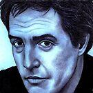 Hugh Grant celebrity portrait by Margaret Sanderson