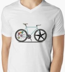 Fixie Bike Men's V-Neck T-Shirt