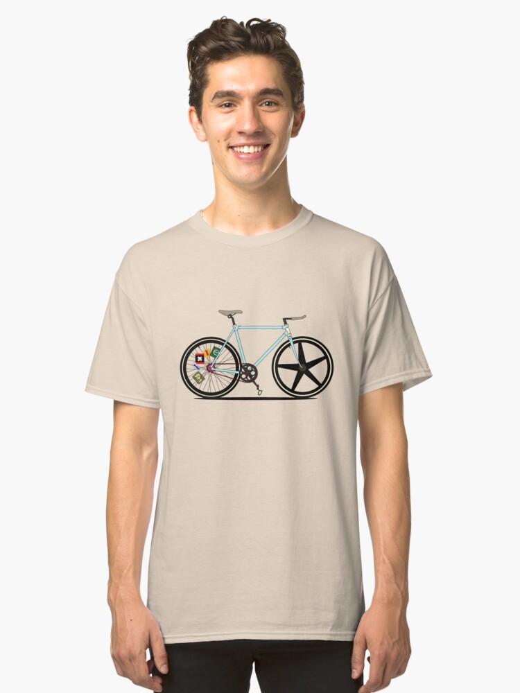 Fixie Bike Classic T-Shirt Front