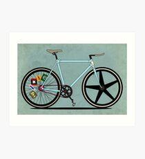 Fixie Bike Art Print