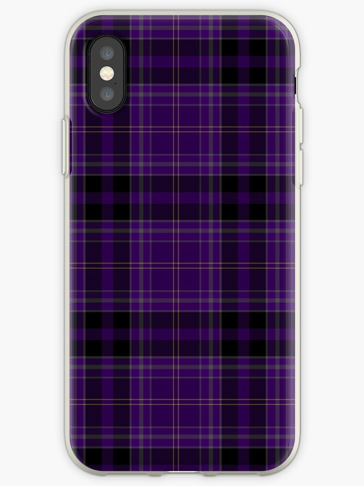 cheap for discount d05bc bfa3f 'Purple Black & Gold Plaid' iPhone Case by Loverdove