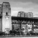 Sydney Harbour Bridge in B&W by Eve Parry