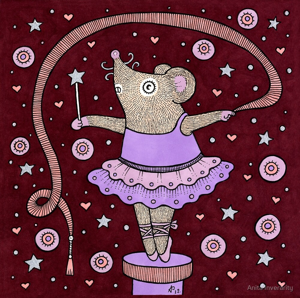 Music Box Mouse by Anita Inverarity