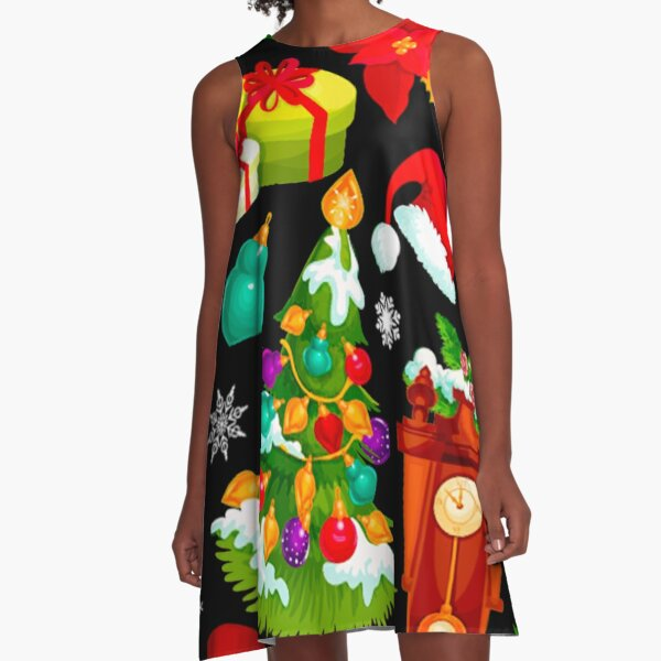 Christmas Pattern A-Line Dress
