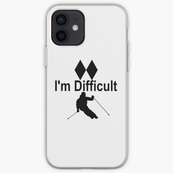 I'm Difficult Double Black Diamond Skiier iPhone Soft Case