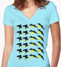 Foot Dive! Women's Fitted V-Neck T-Shirt
