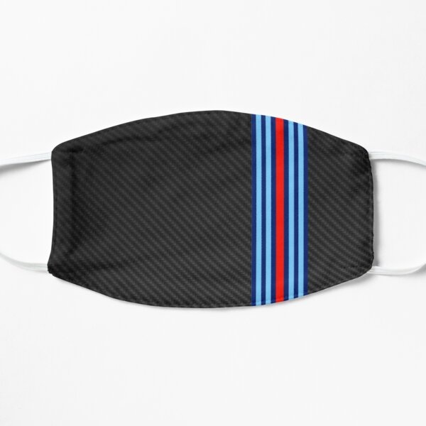 Carbon Fiber Racing Stripes 8 Flat Mask