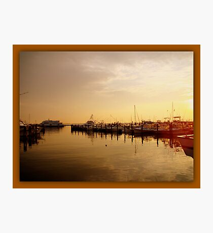 A New Day Beings on the Water - Atlantic Highlands  - NJ Photographic Print