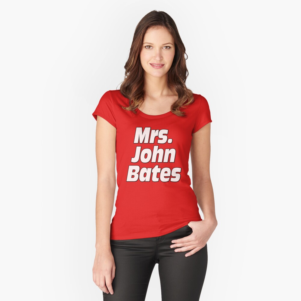 Mrs. John Bates Downton Abbey Women's Fitted Scoop T-Shirt Front