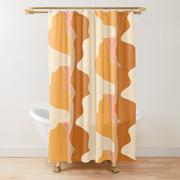 retro waves Shower Curtain