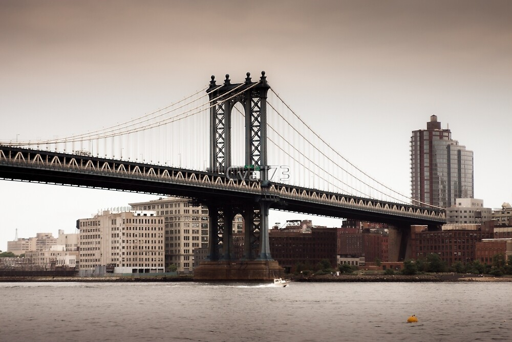 Taking it easy at Brooklyn Bridge by Cvail73