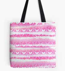 Hand-Painted Pink Watercolor Girly Waterlilies Pattern Tote Bag
